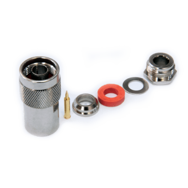 Разъем N-типа, вилка, для кабеля 5D (прижимной, цанговый), N-112C/5D